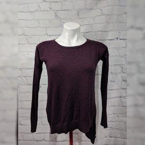 Express assymetrical bottom plum sweater